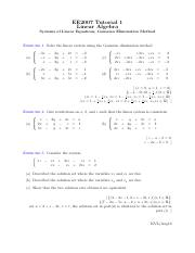 Eng Maths 2- tutorials