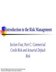 4C Commerical Credit Risk.ppt
