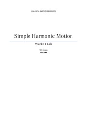 Full Lab-Simple Harmonic Motion