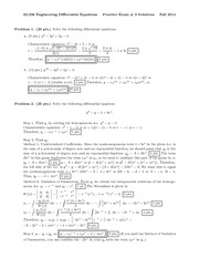 Exam C Solutions on Engineering Differential Equations