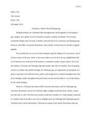 Essay 3 - Compare and Contrast Essay