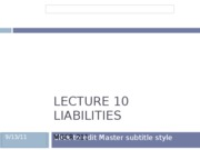 Lecture 10 Liabilities