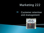 Lecture 5 - CRM LOYALTY