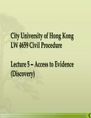 Access to Evidence (Discovery).ppt