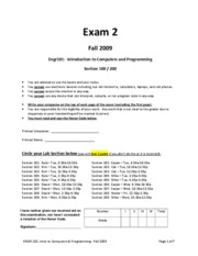 Exam #2 Sample1
