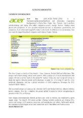 Acer's brief information