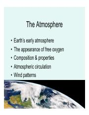 lecture 10-the atmosphere