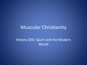 8. Muscular Christianity