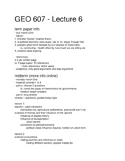 GEO 607 - Lecture 6