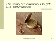 Lecture 13 18th Century Naturalists