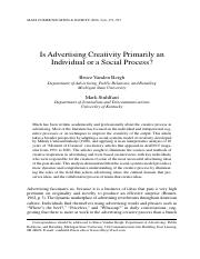 Is advertising Creativity Primarily an Individual or a Social Process.pdf