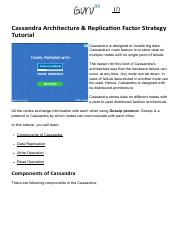 03-Cassandra Architecture & Replication Factor Strategy Tutorial.pdf