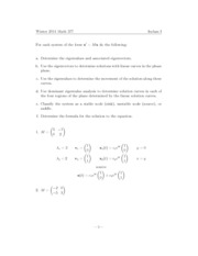 Inclass SOLUTIONS I
