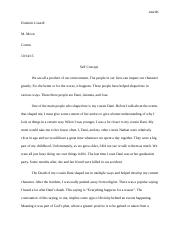 Help Understanding Self Concept/ Essay of Mine
