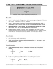 Chem161 Arrow pushing notes