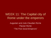 WEEK 11_The Imperial Capital of Rome