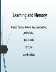 PSY-340 WK 5 Learning and Memory Presentation.pptx