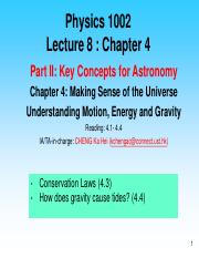 Lecture 8 - Chapter 4
