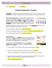 M10L3M1TitrationGizmo - Name Date Student Exploration ...