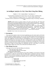 An intelligent Analysis of a City Crime Data Using Data Mining