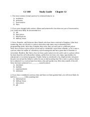 CJ 100 Study Guide Chapter 12.docx
