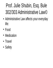 bule 302 summer 2016 admin law