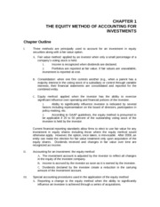CHAPTER 1 THE EQUITY METHOD OF ACCOUNTING FOR INVESTMENTS