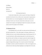 Crimean War Essay