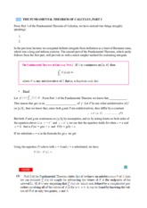 35 Fundamental Theorem of Calculus 2