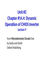 Unit 2 Lecture 9 Dynamic Operation of CMOS Inverter.ppt