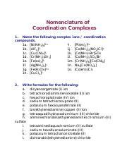 CC name.pdf - Nomenclature of Coordination Complexes 1 Name ...