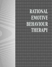 RATIONAL EMOTIVE BEHAVIOUR THERAPY (1)
