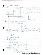 Study for Final Exam, Calculus II