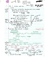 Chapter 1 Notes - Limits and Conjungation
