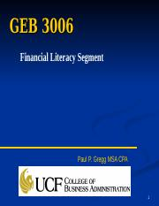 GEB 3006 Salaries and Benefits and Consumer Credit .ppt