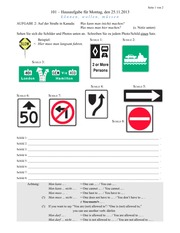 GER101 - Homework 11 - Road Signs, Occupations