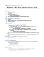 15 Human effects on species extinctions