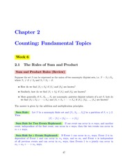 MATH 222 Week 6 Lecture Notes