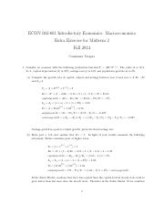 Extra Exercises Midterm 2 Solution (1)