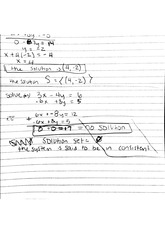 notes on solving with elimination
