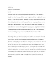 self introduction speech