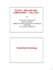 PE3313-Chapter 6 - Cementing Technology