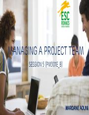 PM301E_B - Managing a project team S5