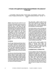 Weka_A Study on the application of Data Mining Methods in the analysis of Transcripts