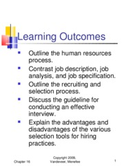 Chapter 16 - Human Resources