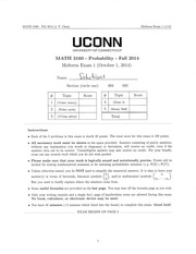 Midterm 1 Solutions A