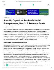 Start-Up Capital for For-Profit Social Entrepreneurs, Part 2_ A Resource Guide _ HuffPost