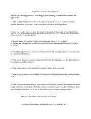 Essay #3 Topic Proposal Food Matters Spring 2016