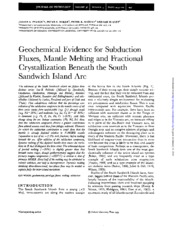 Geochemical Evidence for Subduction Fluxes, Mantle Melting and Fractional Crystallization Beneath th