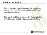 Statement of Cash Flows - Reconciliation